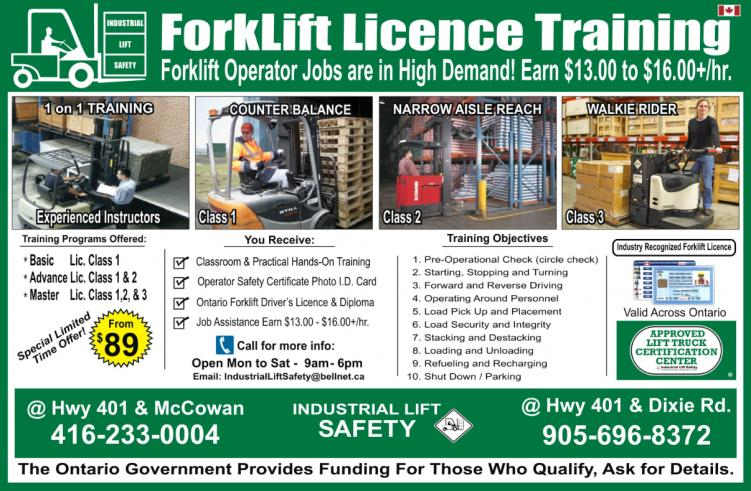 Forklift Training Mississauga
